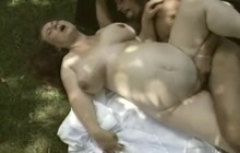 Pregnant GF fucked outdoors