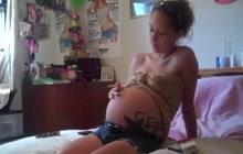 Pregnant teen smoking