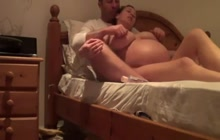 Amateur preggo with her man