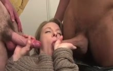 Anal FMM threesome with beautiful pregnant