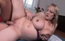 Monster boobed pregnant girl fucked in the pussy
